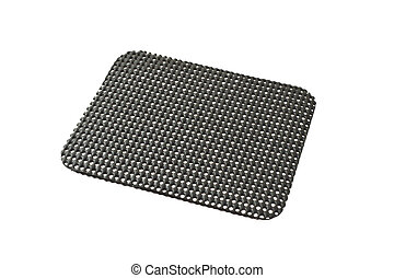 Black desktop non slip matt isolated on white background
