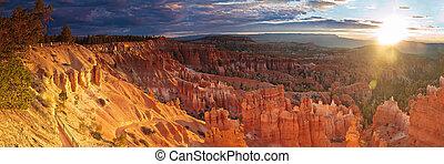 Over Sunrise - Sunrise over Bryce Canyon, Utah