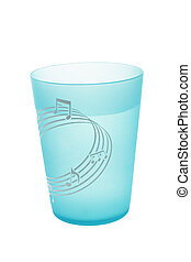 Cup of water - Plastic cup filled with water isolated on...