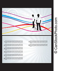 abstract envelope design vector ill