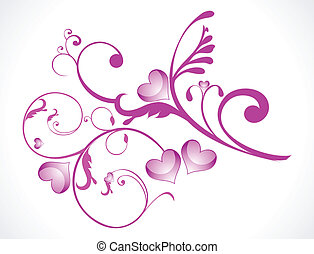 abstract love floral vector illustration