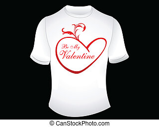 abstract love t shirt wallpaper vector illustration