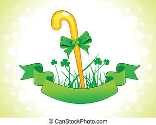 st patric stick vector illustration