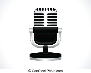 abstract microphone icon vector illustration