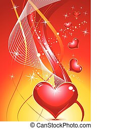 abstract colorful sparkle hearts vector illustration