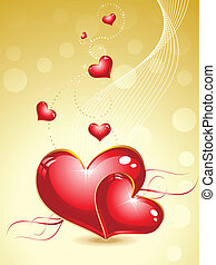 abstract valentine heart concept  vector illustration