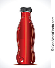 abstract cold drink bottle vector illustration