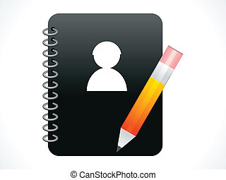 abstract contacts book icon