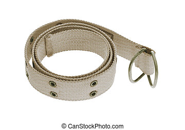 Canvass waist band on white background