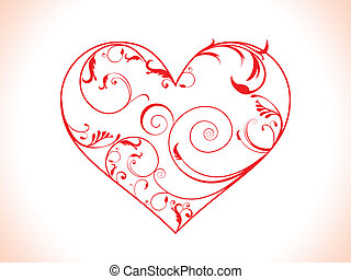 abstract floral heart vector illustration
