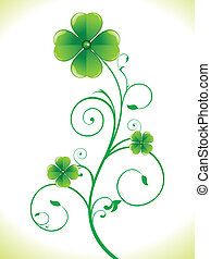 abstract st Patrick clover vector i