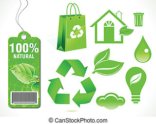 abstract eco elements vector