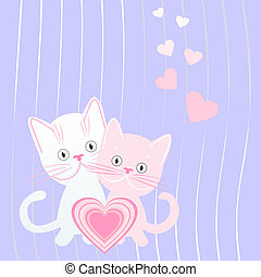 vector postcard for Valentine`s day