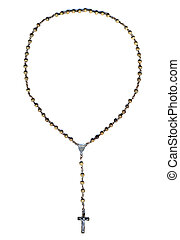 Round shaped christian rosary - Round shaped old wooden...