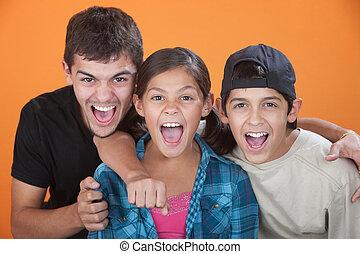 Excited Siblings