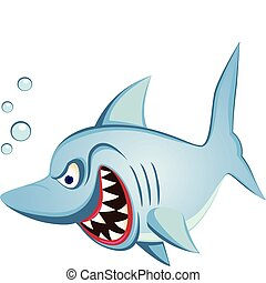 shark cartoon character - vector shark cartoon character