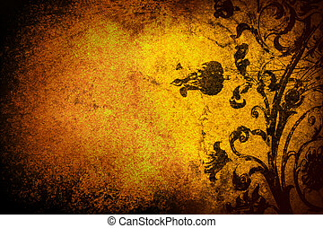 grunge background - grunge floral background