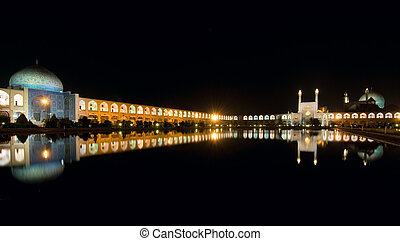 Imam Square at night, Isfahan, Iran