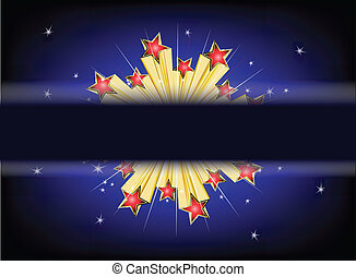 Star explode Vector background
