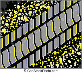 Tire track vector illustration