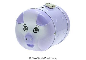 挂鎖, 小豬, 銀行