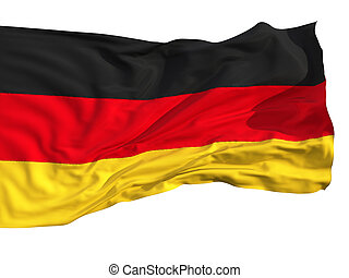 Flag of Germany, fluttered in the wind