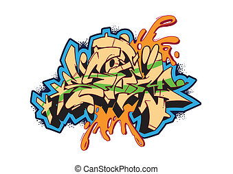 Graffiti Storm - Graffiti vector sketch design, word STORM.