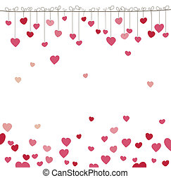 Background with heart. Vector illustration - Background with...