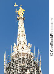 Milan, the Duomo - Picture of Madonnina on Duomos top floor
