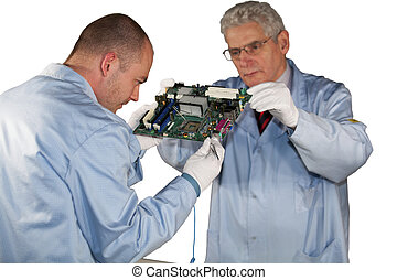 IT - engineers doing inspection - IT - engineers inspecting...