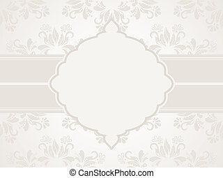 Greeting card - Vector vintage silver wedding invitation