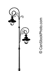 Isolated street lamp. - Old fashioned street lamp isolated...