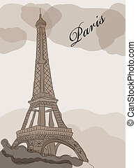 Eiffel tower - Vector picture with Eiffel tower