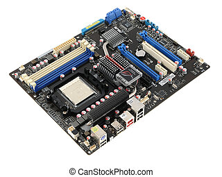 Motherboard - Computer component - motherboard - isolated in...