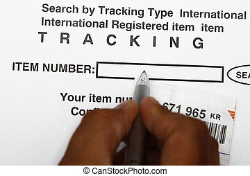Tracking number - Search for the mail by entering the...