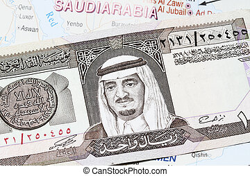 King Fahd On 1 Riyal Banknote - King Fahd on 1 Riyal...