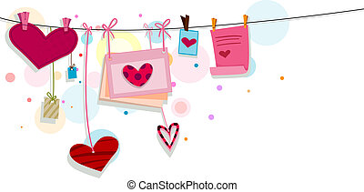 Heart Strings - Illustration of Miscellaneous Heart Designs...