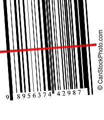 Barcode scanned - Barcode with scanner in digital format...