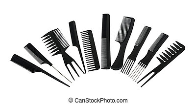 Combs - A variety of beautician combs for hair care and...