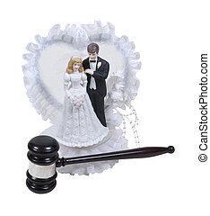 Family Law - Wedding cake topper with lace and bride and...