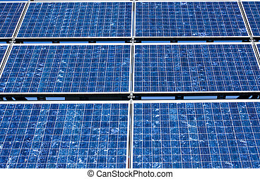 Solar panel close-up - A close view of a modern solar panel