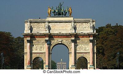 Arc de Triomphe du Carrousel Paris - The Arc de Triomphe du...