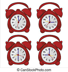 isolated clocks - fully editable vector illustration of...