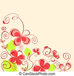 Flower background - Flower pattern for design as a...