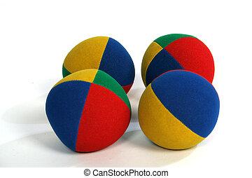 4 balls - 4 colourful balls