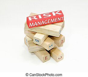 Risk management - This is a image of wood stick with added...