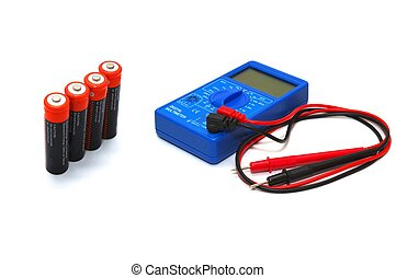 Multimeter with accumulators - photo of the multimeter with...