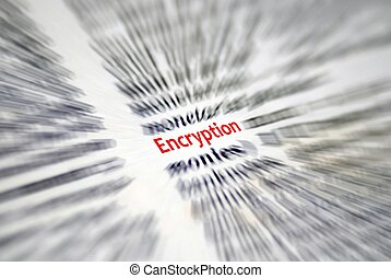 Encryption - This is a image of text from book.