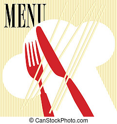 Menu Card - Pasta - Menu Card Background - Pasta and Cutlery...