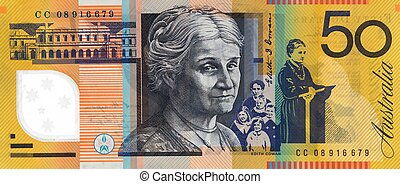 Australian Fifty Dollar Note - Australian fifty dollar note...